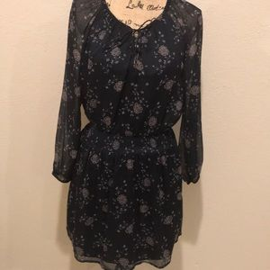 Abercrombie &Fitch Dress Navy with pink and white